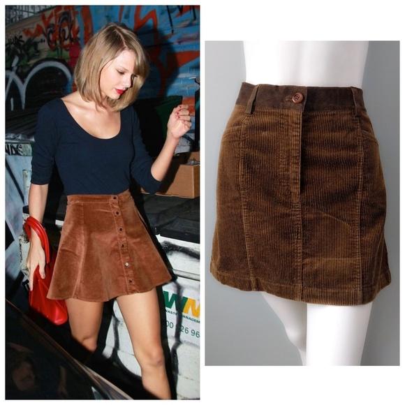 da28964e66e0c Dkny Dresses   Skirts - VTG 90s DKNY Corduroy Suede Olive Brown Mini Skirt